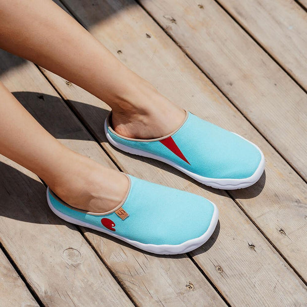 Marbella Blue Slipper - AUE UIN FOOTWEAR