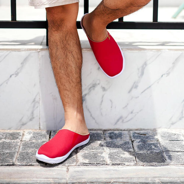 Marbella Red Slipper - AUE UIN FOOTWEAR