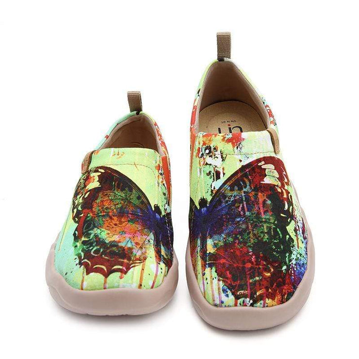 MOTTLED BUTTERFLY Unique Artistic Women Flats - AUE UIN FOOTWEAR