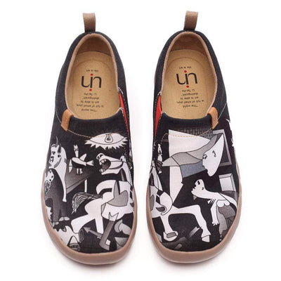 PICASSO'S GUERNICA Abstract Women Flats Canvas Shoes - AUE UIN FOOTWEAR