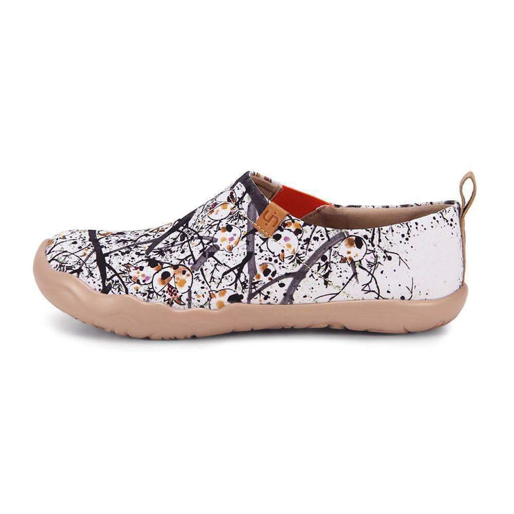 POMEGRANATE Painted Canvas Lady Slip-on Shoes - AUE UIN FOOTWEAR