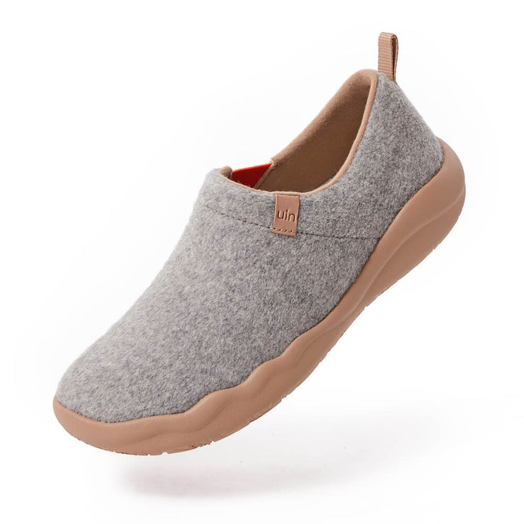 UIN Footwear Women (Pre-sale) Toledo II Light Grey Wool Women Canvas loafers