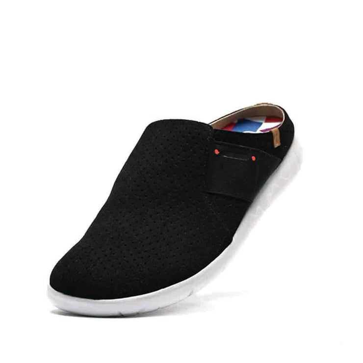 UIN Footwear Women Sidi Black Slipper Canvas loafers