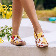 SNOWFLAKE BUTTERFLY Cute Ladies Painted Shoes - AUE UIN FOOTWEAR