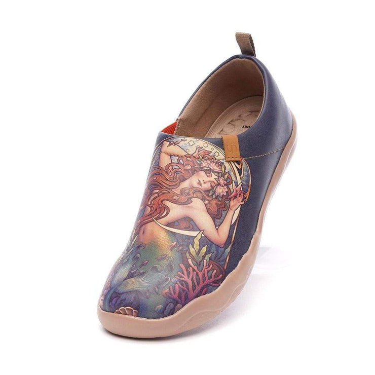 THE LITTLE MERMAID Art Microfiber Leather Shoes for Ladies - AUE UIN FOOTWEAR