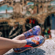 THROW ME A KISS Women Surreal Art Canvas Loafers - AUE UIN FOOTWEAR