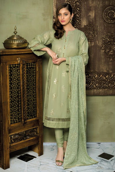 Gul Ahmed 3 PC Unstitched Embroidered Lawn Suit with Chiffon Dupatta PM-277