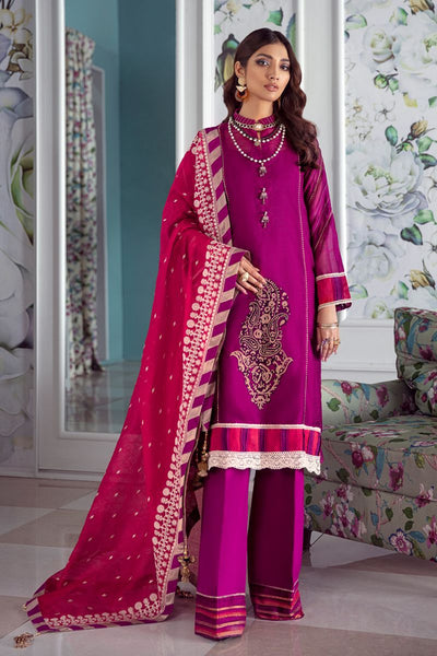 Gul Ahmed 3 PC Unstitched Embroidered Lawn Suit with Cotton Net Dupatta LE-21