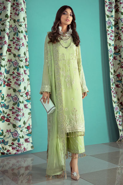 Gul Ahmed 3 PC Unstitched Embroidered Lawn Suit with Chiffon Dupatta LE-17