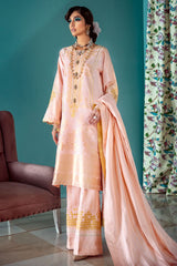 Gul Ahmed 3 PC Unstitched Embroidered Lawn Suit with Jacquard Dupatta LE-19