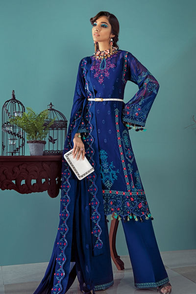 Gul Ahmed 3 PC Unstitched Embroidered Lawn Suit with Chiffon Dupatta LE-18
