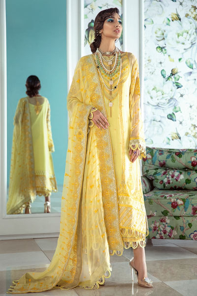 Gul Ahmed 3 PC Unstitched Embroidered Lawn Suit with Chiffon Dupatta LE-15