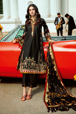 Gul Ahmed 3 PC Unstitched Embroidered Lawn Suit with Tissue Silk Dupatta SSM-37