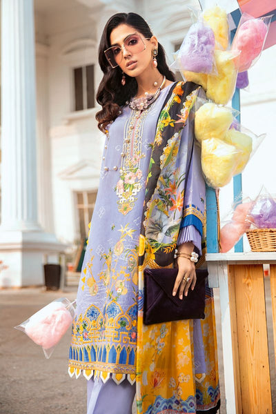 Gul Ahmed 3 PC Unstitched Embroidered Lawn Suit with Tissue Silk Dupatta SSM-39