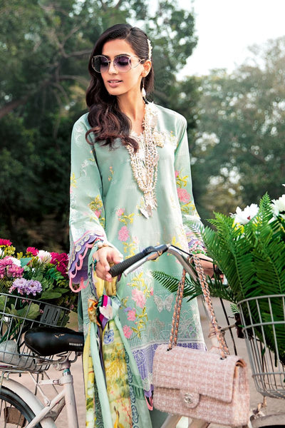 Gul Ahmed 3 PC Unstitched Embroidered Lawn Suit with Tissue Silk Dupatta SSM-34