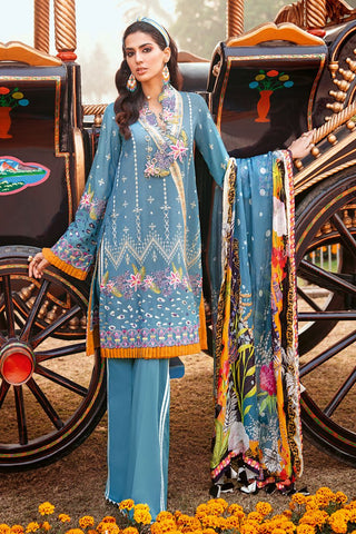 Gul Ahmed 3 PC Unstitched Embroidered Lawn Suit with Tissue Silk Dupatta SSM-38