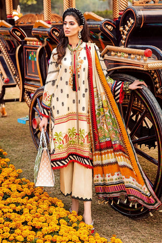 Gul Ahmed 3 PC Unstitched Embroidered Lawn Suit with Tissue Silk Dupatta SSM-36
