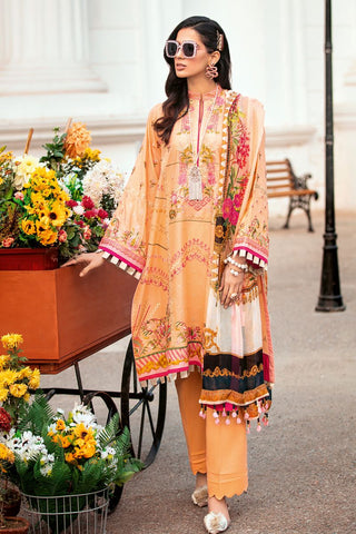 Gul Ahmed 3 PC Unstitched Embroidered Lawn Suit with Tissue Silk Dupatta SSM-35