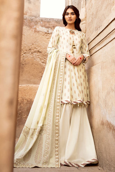 Gul Ahmed 3 PC Unstitched Jacquard Suit MJ-37 B