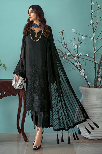 Gul Ahmed 3 PC Unstitched Embroidered Lawn Suit with Chiffon Dupatta LE-16