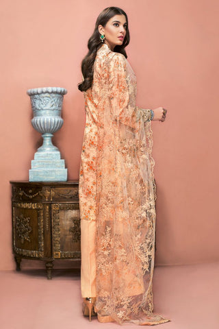 Gul Ahmed 3 PC Unstitched Embroidered Suit with Net Dupatta PM-336