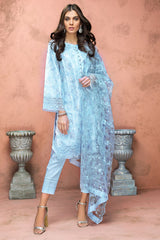 Gul Ahmed 3 PC Unstitched Embroidered Lawn Suit with Net Dupatta PM-337