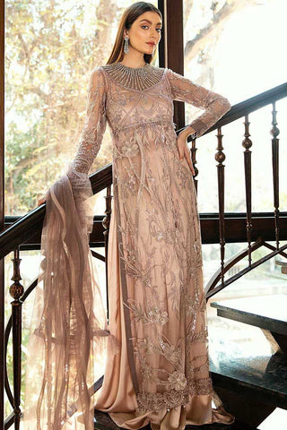 Epoque Embroidered Net Unstitched 3 Piece Suit EP20A 01 Chatoyer - Luxury Collection