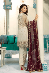 Emaan Adeel Embroidered Organza Unstitched 3 Piece Suit EA20-C10 1001 - Luxury Collection
