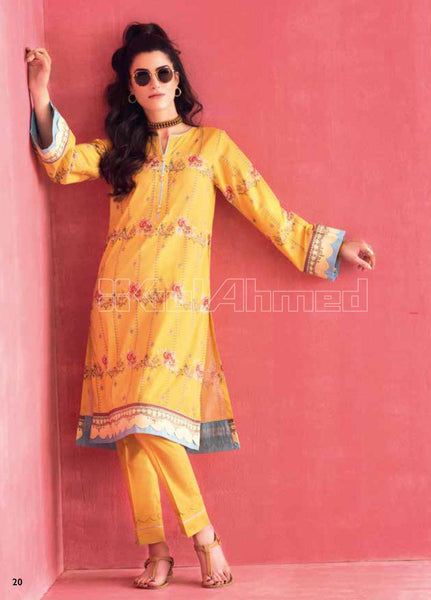 Unstitched Kurties GA20BGC SL-836 - Spring / Summer Collection
