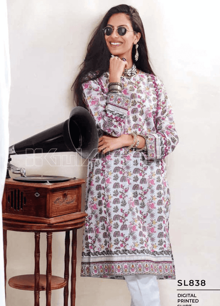 Unstitched Kurties GA20BGC SL-838 - Spring / Summer Collection