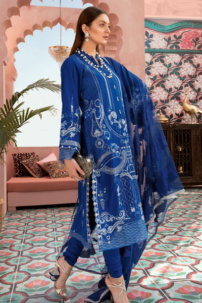 Gul Ahmed 3 PC Unstitched Embroidered Lawn Suit with Net Dupatta PM-359