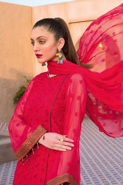 Gul Ahmed 3 PC Unstitched Embroidered Suit with Chiffon Dupatta PM-326