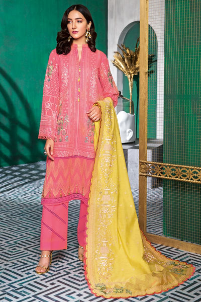 Gul Ahmed 3 PC Unstitched Swiss Voile Suit LSV-34