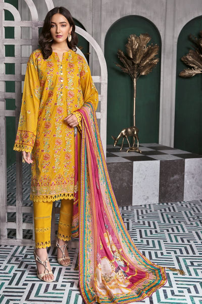Gul Ahmed 3 PC Unstitched Swiss Voile Suit LSV-25