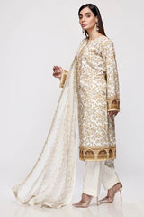 Gul Ahmed 3PC Unstitched Embroidered Lawn Suit with Chiffon Dupatta BCT-21