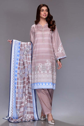 Gul Ahmed 3PC Unstitched Lawn Suit CL-669 B