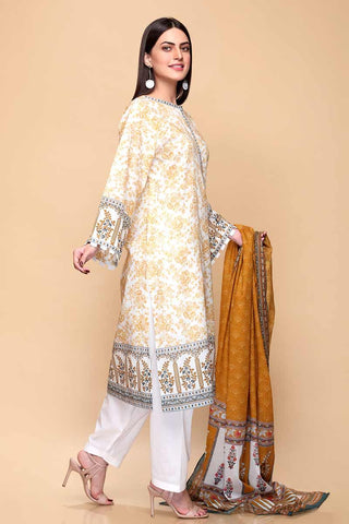 Gul Ahmed 3PC Unstitched Lawn Suit CL-704 B
