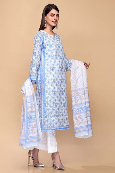 Gul Ahmed 3PC Unstitched Lawn Suit CL-653 A
