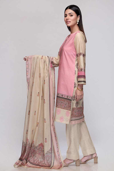 Gul Ahmed 3PC Unstitched Lawn Suit CL-676 B