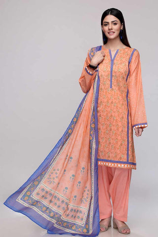 Gul Ahmed 3PC Unstitched Lawn Suit CL-705 B