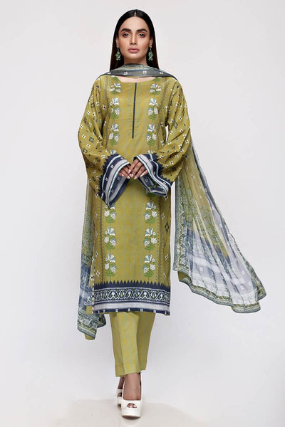 Gul Ahmed 3PC Unstitched Lawn Suit with Chiffon Dupatta BM-156