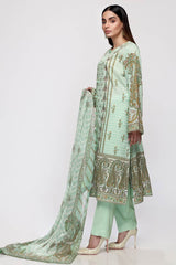 Gul Ahmed 3PC Unstitched Lawn Suit with Chiffon Dupatta BM-153