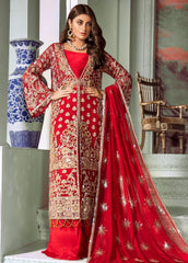 Maryum N Maria Embroidered Chiffon Unstitched 3 Piece Suit MNM20C 02 Last Redd - Luxury Collection
