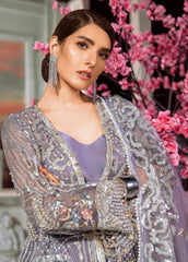 Maryum N Maria Embroidered Organza Unstitched 3 Piece Suit MNM20C 09 Teal Laster - Luxury Collection