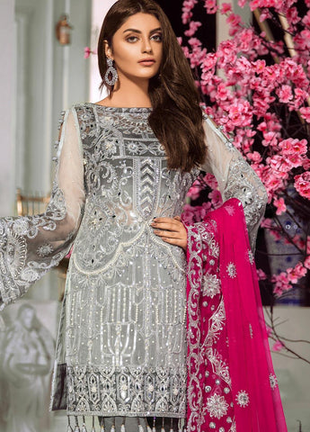 Maryum N Maria Embroidered Chiffon Unstitched 3 Piece Suit MNM20C 10 Gracurus - Luxury Collection