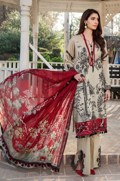 Motifz 2443-MIST-GREY EMBROIDERED LAWN UNSTITCHED