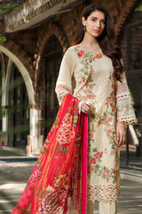 Motifz 2449-YELLOW-MIST EMBROIDERED LAWN UNSTITCHED