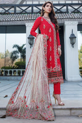 Motifz 2453-REDICAL-RED EMBROIDERED LAWN UNSTITCHED