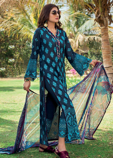 Zainab Chottani Unstitched 3 Piece Suit ZC20LL 10A - Luxury Collection