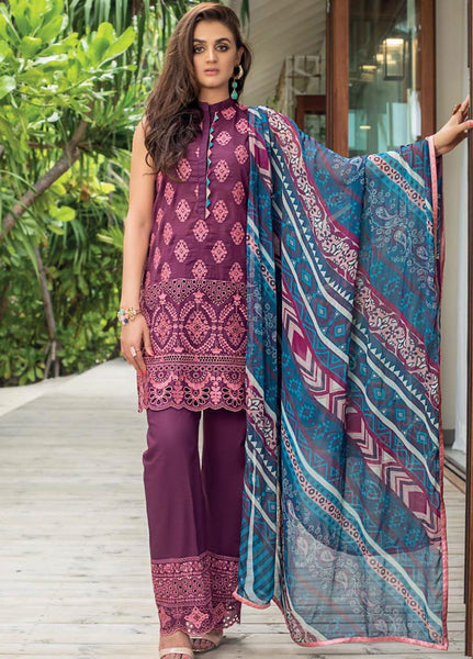 Zainab Chottani Unstitched 3 Piece Suit ZC20LL 10B - Luxury Collection